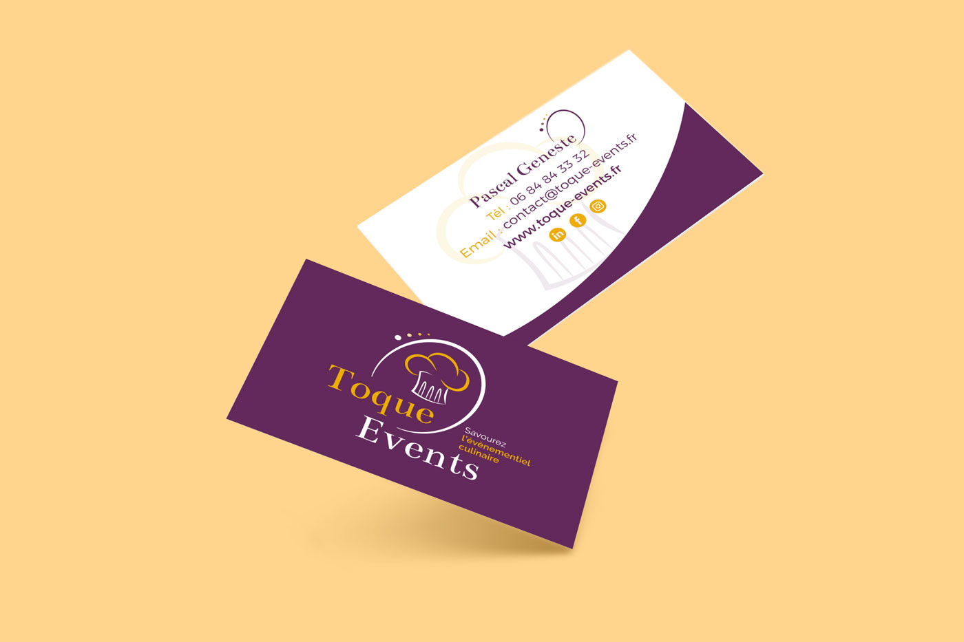 TOQUE EVENTS CARTE DE VISITE